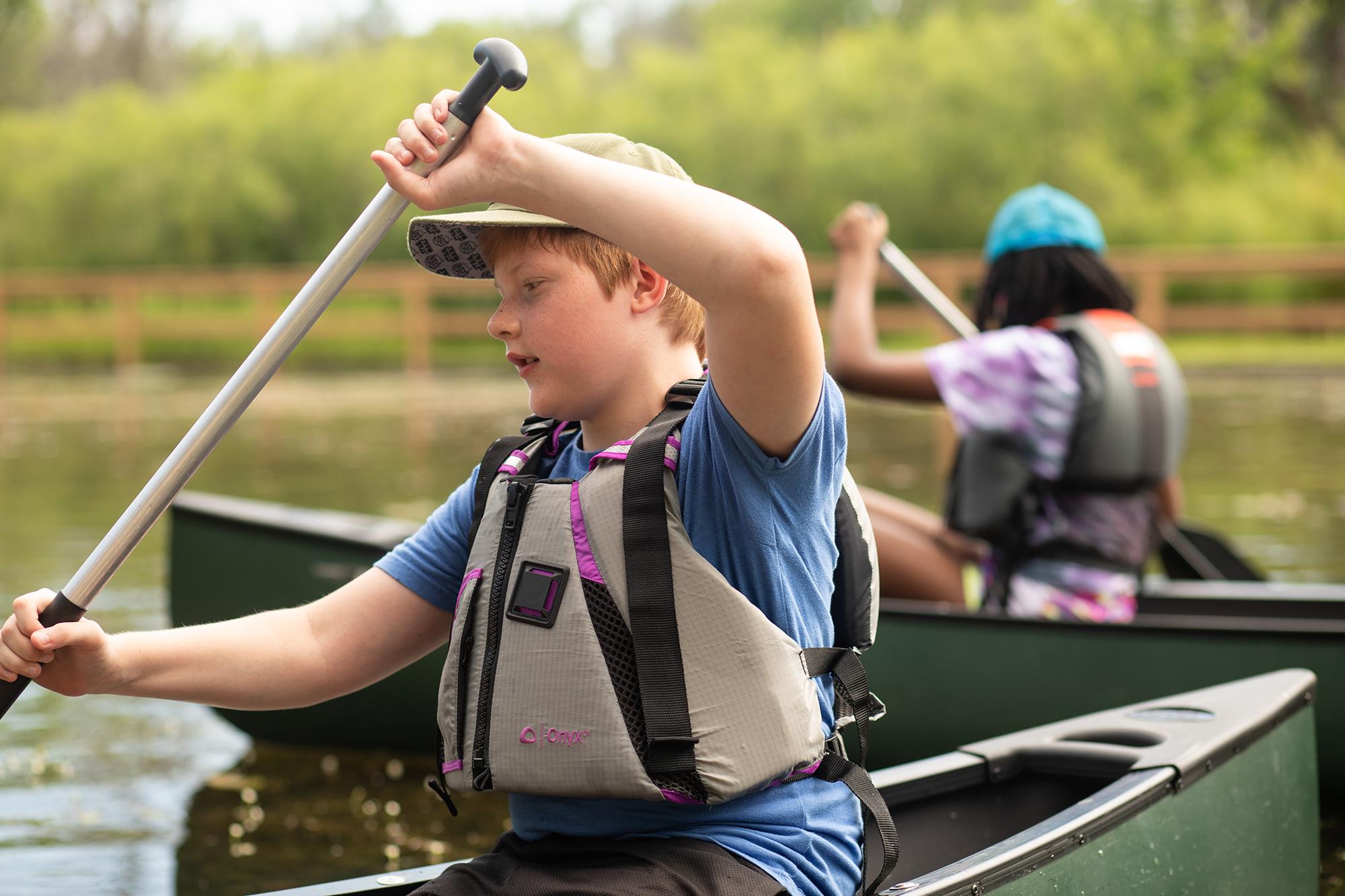Kids Travel Destination Lifestyle Photography Camp Kindred Milwaukee Canoeing