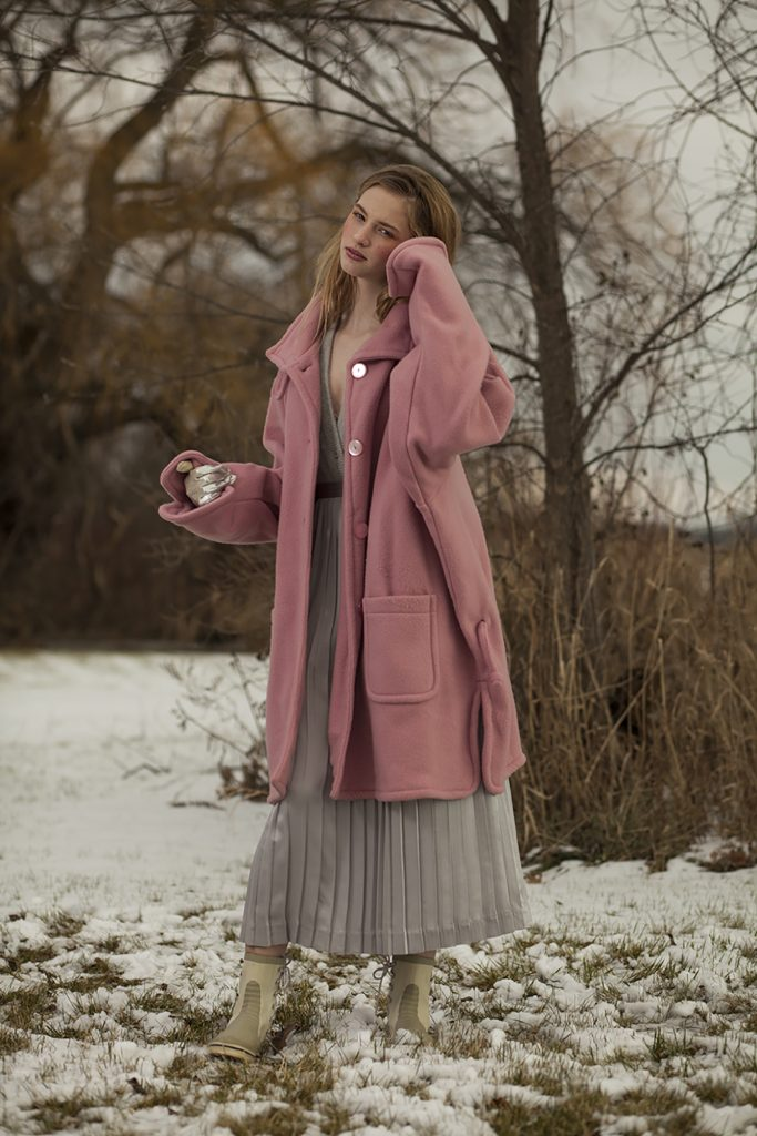 Winter Snow Vintage Fashion Editorial Photography