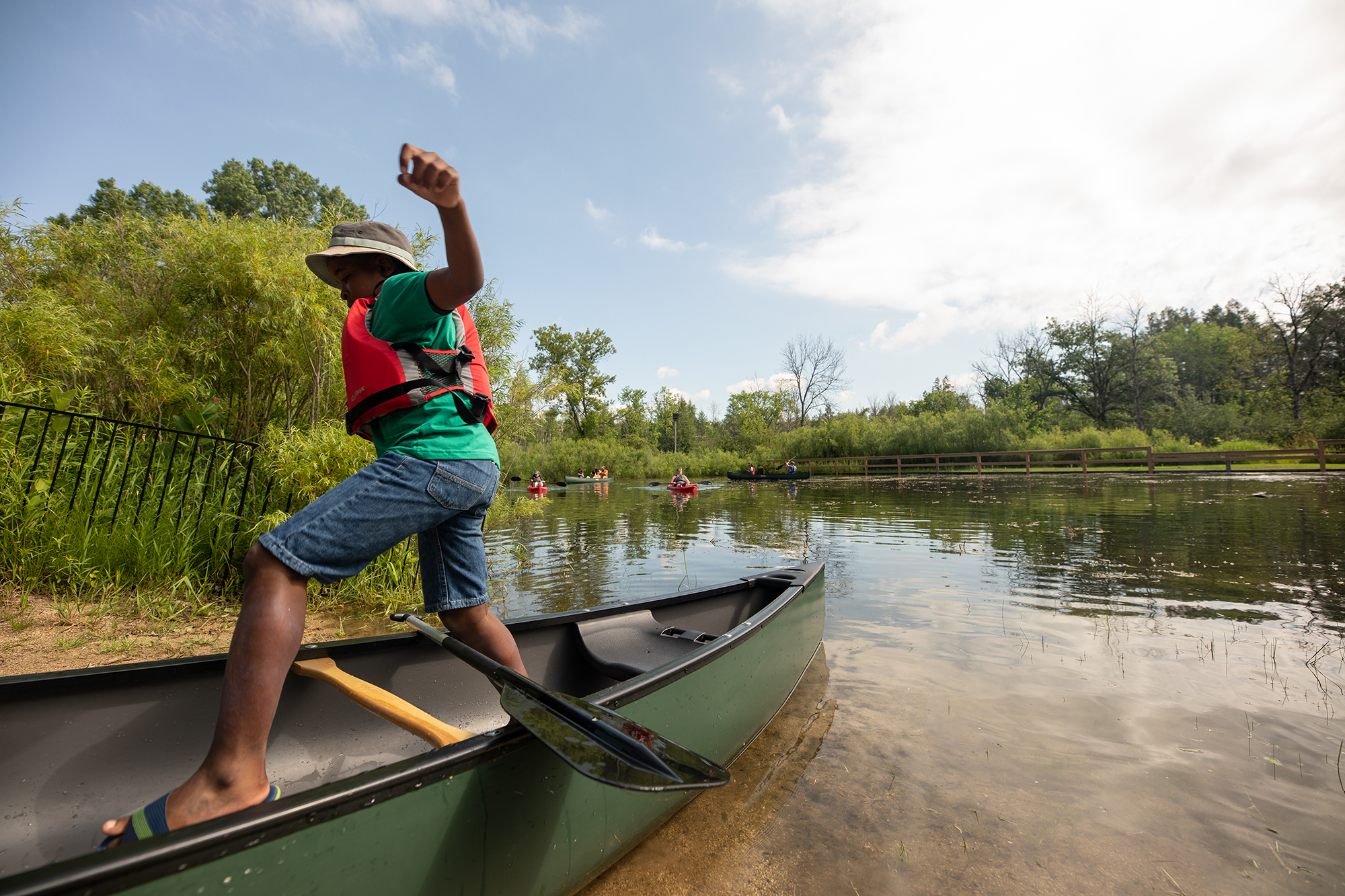 Kids Travel Destination Photography Camp Kindred Milwaukee Canoeing
