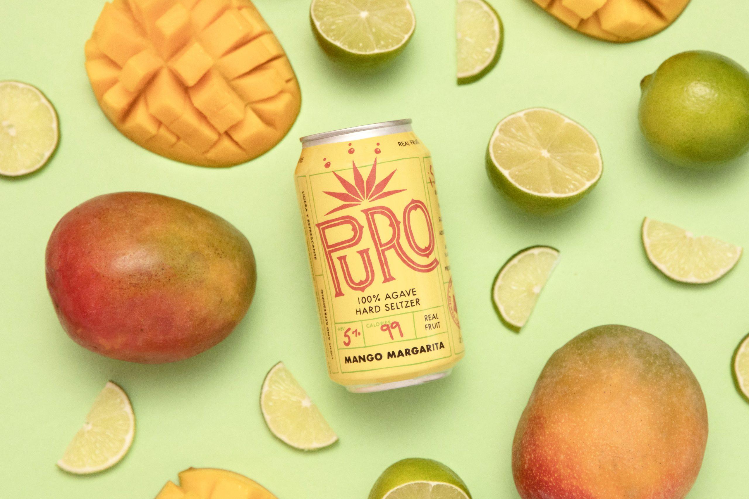 Dry County Brewing Puro Mango Margarita Agave Seltzer